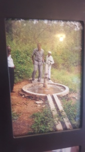 A photo of one of the fresh water wells at a leper village in India