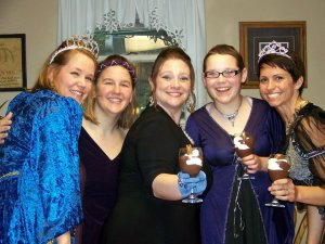 Mary, Amanda, Me, Emma, and Jess at the Royal Book Club Gala
