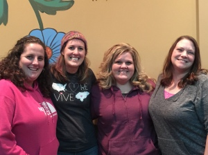 The Jujus: Jen, Marla, Sarah, & me.